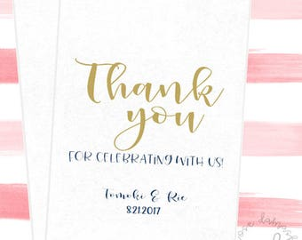 Thank you, Favor Bags, Popcorn Bags, Wedding Candy Buffet, Candy Bags, Buffet Bags, Cookie Bags, Wedding Favors, RD51