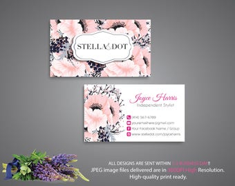 Stella and Dot Business Card, Custom Stella and Dot Business Card, PERSONALIZED cards, Custom Stella and Dot, Printable Business Card STD05