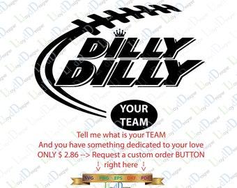 Dilly Dilly SVG Dilly Dilly Football svg Dilly Dilly DXF download dilly dilly logo football team eps dxf png svg file printable cameo cricut