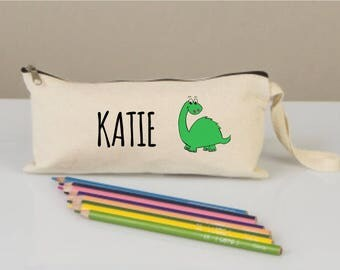 Pencil cases, pencil case for boys girls, pencil cases boxes, personalized, cotton pencil 'case,back to school,  dinosaur bags