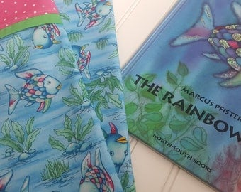 Rainbow Fish // Standard Pillowcase // Handmade // Chidren's Bedroom Bedding // Donations with purchase of 2