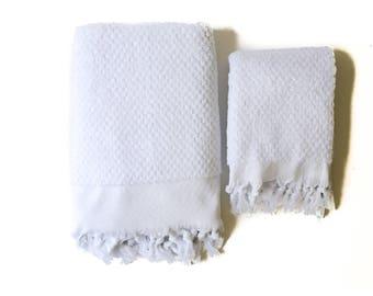 ORB Pure White Turkish Towel Set of 2