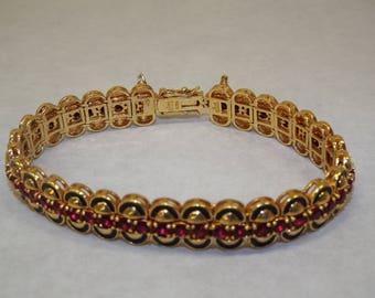 Joan Rivers Simulated Ruby Line Bracelet & Enamel Jacket