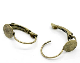 Set of 3 pairs of sleeper bronze