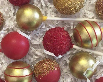 Red Royal Cake Pops