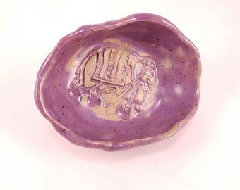 Handmade pottery soap dish
