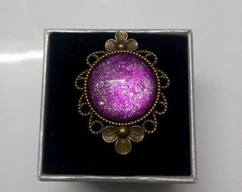 glitter bronze Adjustable ring