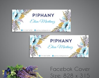 Personalized Piphany facebook cover, Piphany Facebook Banner, Piphany Banner, PiPhany Marketing- Digital file TP07