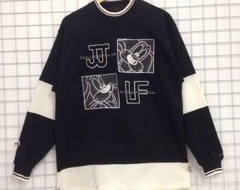 Vintage Jean Louis Fradet Sweatshirts Embroidery Big Logo Nice Design