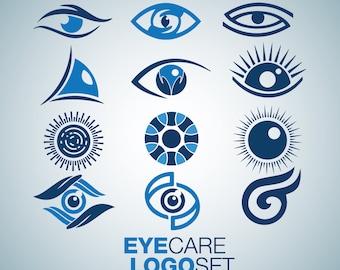 Instant Download Eye Care Logo Set