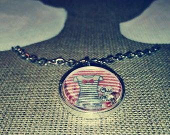 CHIC Navy pattern Silver Pendant
