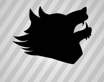 Wolf Silhouette - Svg Dxf Eps Silhouette Rld Rdworks Pdf Png Ai Files Digital Cut Vector File Svg File Cricut Laser Cut
