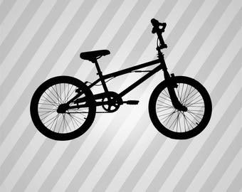 Bike Silhouette - Svg Dxf Eps Silhouette Rld Rdworks Pdf Png Ai Files Digital Cut Vector File Svg File Cricut Laser Cut