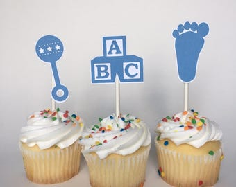 Baby Shower / Birthday Cupcake Toppers