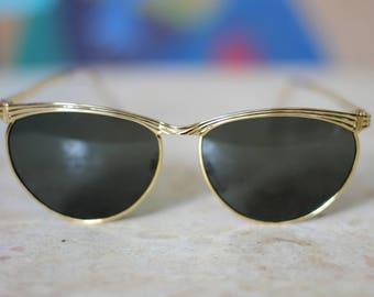 90's Oval Browline Sunglasses