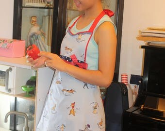 Retro Womens Apron with cute doggies