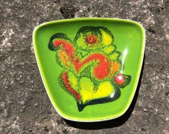 Poole Pottery Delphis pin dish. Shape 41