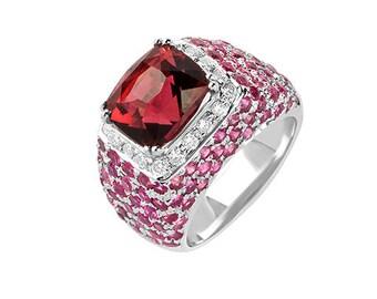 Sweet Embrace Rhudalite and Diamond Ring