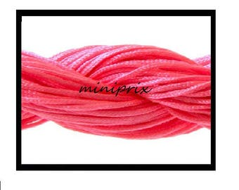 X 5 meters of thread nylon macramé, fuchsia pink shamballa