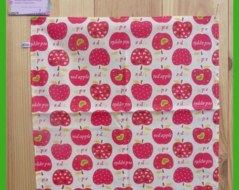 """Napkin for snack, """"My apples"""" pattern"""