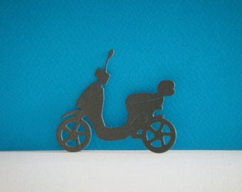 Cut scooter in grey design for scrapbooking and card paper