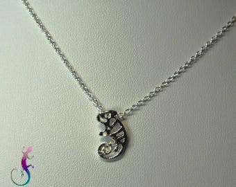 Necklace chain + silver metal clay pendant