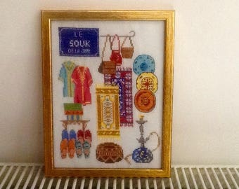 Embroidered frame theme: visit to the souk