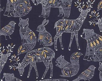 FABRIC, animals, deer, bears, bunnies, country decor, patchwork