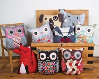 Pillow, owl, owl, 37 cm, CLARA OWL CUSHION