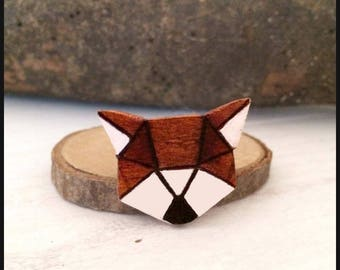 "Wooden brooch""my sweet Fox"""