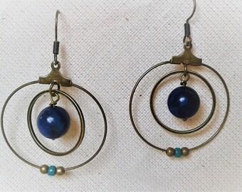 Earrings Lapis Lazuli air celestial