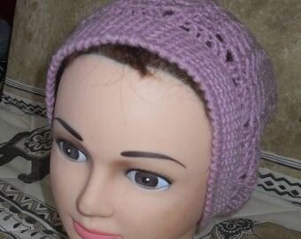 Plum wool crochet Hat
