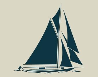 Sailboat. Boat. Stencil adhesive vinyl (ref 203)