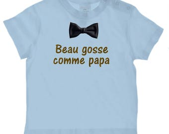 baby Message nice kid like Daddy t-shirt