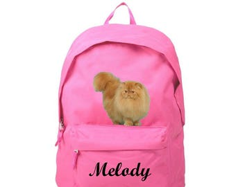 bag has pink Persian personalized with name