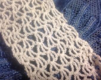 Lace crochet Normandie, white-Ecru