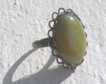 Wonderful agate shades of green - bronze