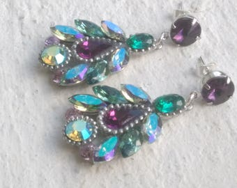 Swarovski Amethyst - Emerald - erinite paradise wonders: model 2