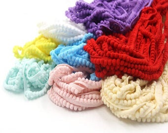 98cm of Ribbon fringe spirit tassels 3 color choices; 5mm wide