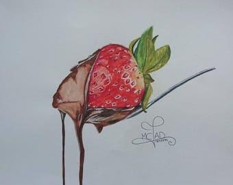 Portrait - Strawberry gourmet chocolate ✿