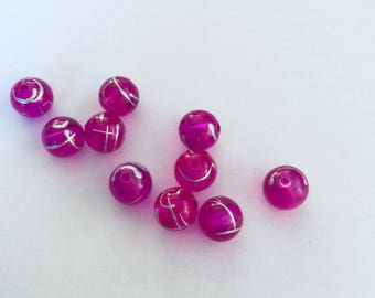 Plum filaments beads (10) black