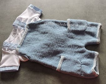 Overalls & shirt for baby wool