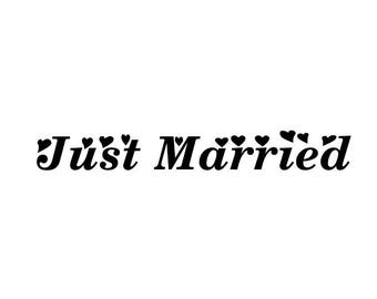 "Stickers ""Just Married 2""for wedding decor"
