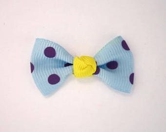 Node in Grosgrain Ribbon with polka dots set of 25: Blue - 001807