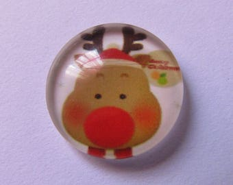 cabochon glass 16mm Christmas theme