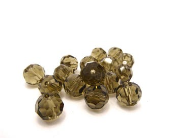 27 round Crystal with facets and shine 10mm beads