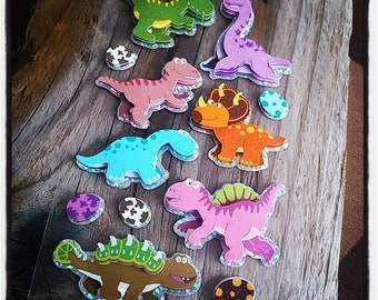 decals stickers funny dinosaur 3D