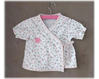 Wrap fabric cotton flowered - 18 months short sleeve