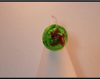 Pistachio ice cream Fimo ball ring