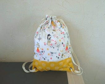 Girl Japanese DrawString bag
